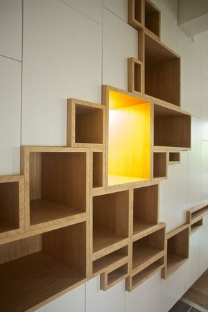 storage wall + bright yellow point of interest!