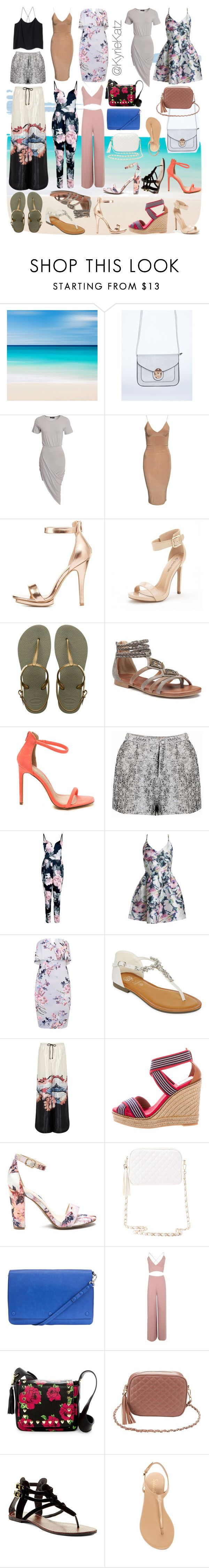 """Gwan Ah Jamaica (Special Request)"" by kyriekatz ❤ liked on Polyvore featuring Club L, Charlotte Russe, Havaianas, SO, Boohoo, Sans Souci, GC Shoes, River Island, Tory Burch and Kin by John Lewis"