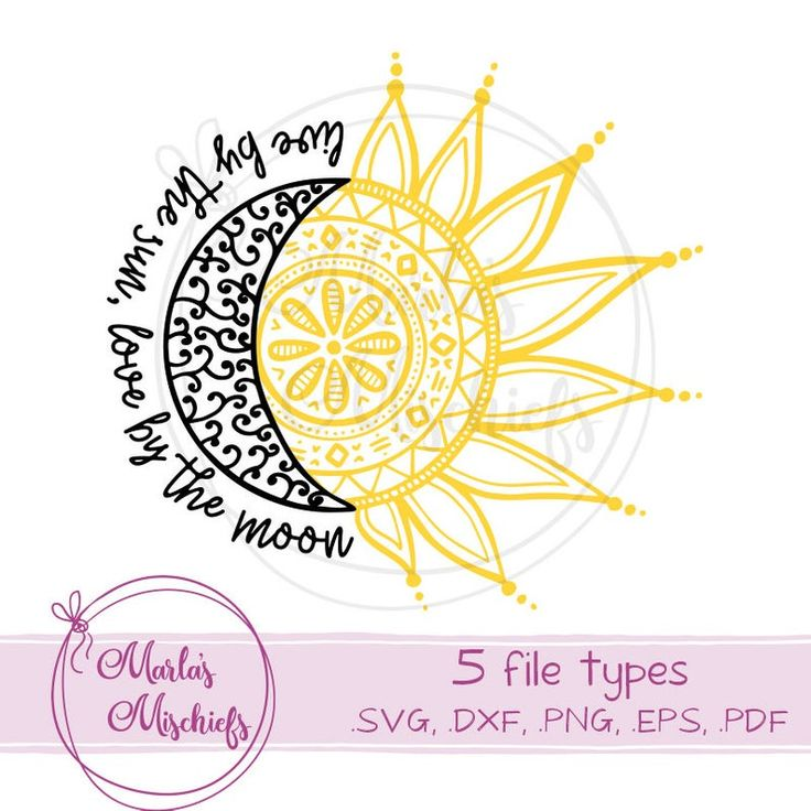 Download Live by the Sun, Love by the Moon - SVG and DXF design for ...