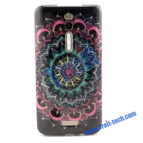 Glitter Powder IMD Craft Soft TPU Back Case for Asus ZenFone 2 5.5 inch ZE551ML ZE550ML - Mandala