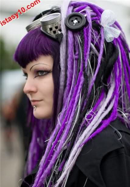 Goth Hairstyle Purple Model » Hairstyles - Celebrity Hair Styles & Haircuts