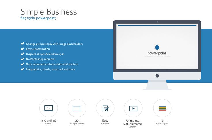 Simple Flat Style PowerPoint ~ Presentation Templates on Creative Market