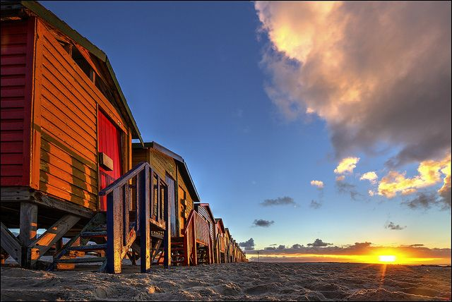 Muizenberg at Dawn, South Africa. BelAfrique your personal travel planner - www.BelAfrique.com