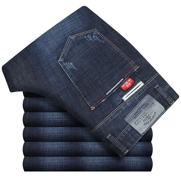 US $31.04 (Buy here - https://alitems.com/g/1e8d114494b01f4c715516525dc3e8/?i=5&ulp=https%3A%2F%2Fwww.aliexpress.com%2Fitem%2FAutumn-Winter-Pants-Men-Elasticity-Straight-Skinny-Jeans-Men-Casual-Thicken-Calca-Jeans-Masculina%2F32729944631.html) Autumn Winter Pants Men Elasticity Straight Skinny Jeans Men Casual Thicken Calca Jeans Masculina