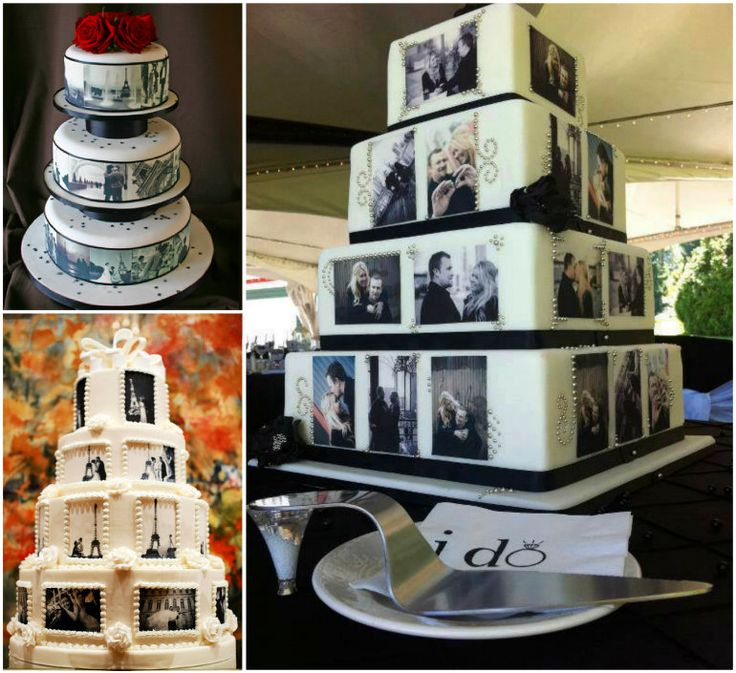 Wedding Photo Cakes!