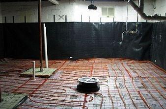 Concrete Basement Floor w/ Radiant Heat & 10 best Heated concrete floors images on Pinterest | Underfloor ...