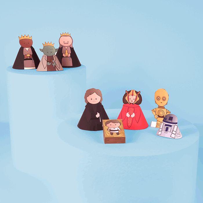 - PRINTABLE DE NOEL - Ta crèche de Noel Star Wars !