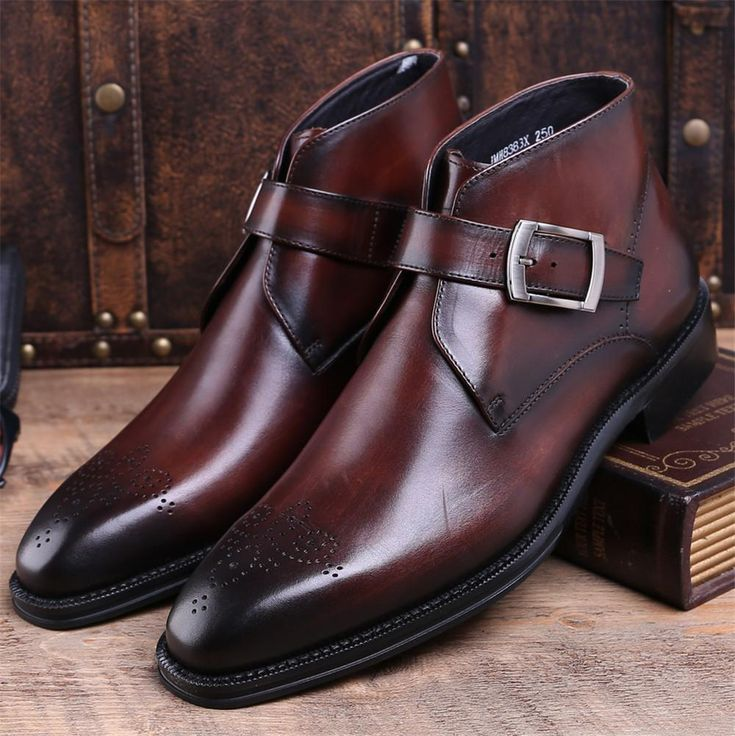 Run your Elegance 365 days a year! Elegance is a mindset Verone - Buckle Ankle Boots for Men - Runit365 your Elegant Men Store  #leather #classy #boots #belt #runit365