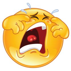 crying emoticon sticker