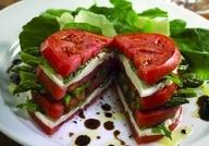 Tomato Stack: Tomatoes Mozzarella, Sandwiches, Recipe, Olives Oil, Capr Salad, Food, Asparagus, Tomatoes Basil, Tomato Mozzarella