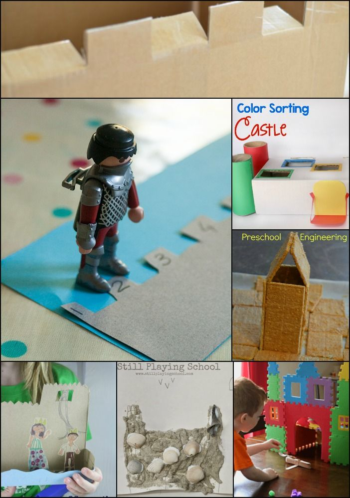 Hands-On Castle Themed Learning Activities from the PLAYful Preschool team! Preschool math, preschool science, preschool art, preschool engineering.