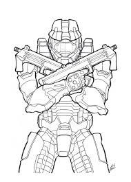 9 Best Halo 5 4 3 Reach Coloring Pages Images On Pinterest