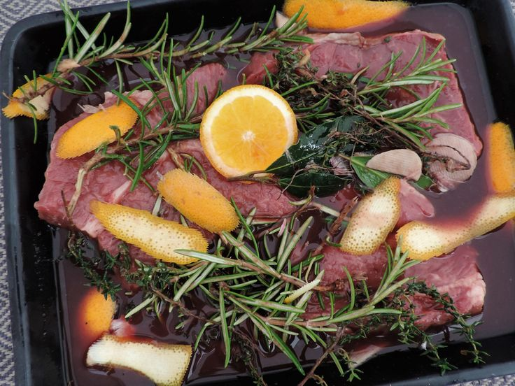 Sinaasappelmarinade voor stoofvlees