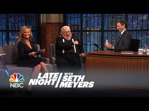 George R.R. Martin, Amy Poehler and Seth Play Game of Thrones Trivia - Late Night with Seth Meyers - YouTube