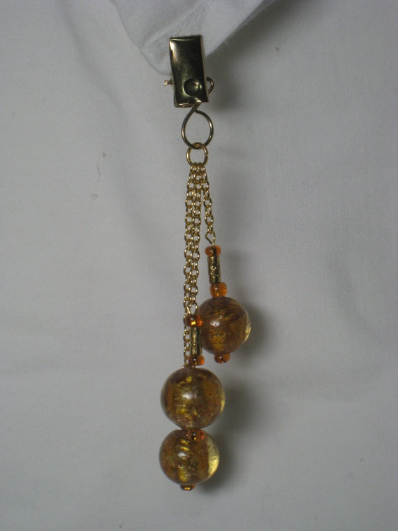 Hand Made Tablecloth Weights Lampwork Glass 3 Gold by jaynesMADEIT, $19.50