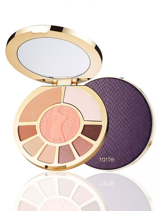 NEW! Tarte Showstopper Clay Palette for Summer 2015! This palette is actually my favorite of the three new Tarte releases. The shadows are luxe, the shades are gorgeous, and you get a beautiful large sized blush, also a highlight shade and bronzer! Powered by Amazonian clay, this longwearing eye & cheek palette is sure to make a showstopping statement.