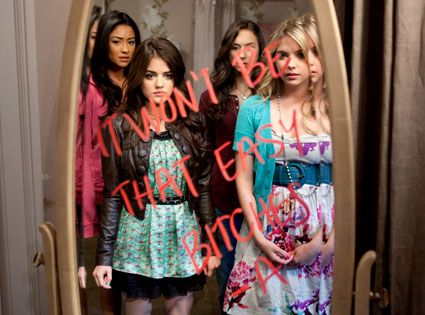Pretty Little Liars...I thought I would hate this show but it's so addicting!