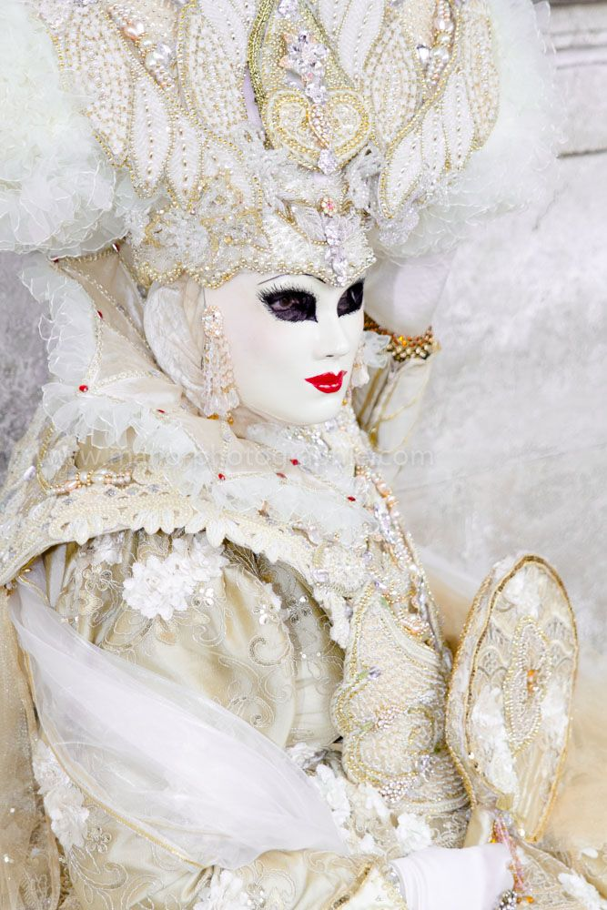 Carnival in Venice 2014, a vision in white with gold ~ Mario Orth