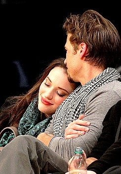 Kat Dennings and Nick Zano (in real life and in character!)