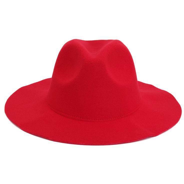 Women Ladies Jazz Vintage Wool Bowler Trilby Fedora Cap Wide Brim Cowboy Hat at Banggood