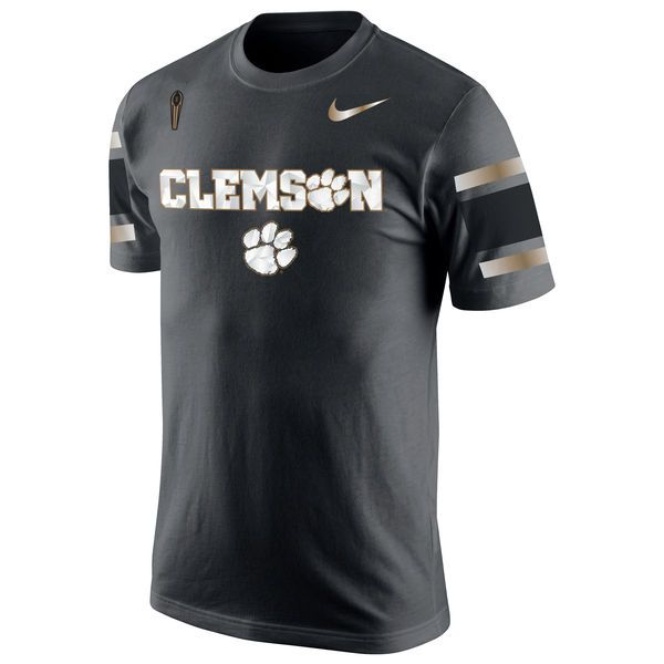 Clemson Tigers Nike College Football Playoff 2016 National Champions Celebration Wordmark T-Shirt - Anthracite - $29.99