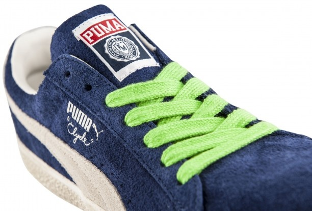 Fluo laces for the new Puma #Clyde #sneakers restyled for Franklin & Marshall