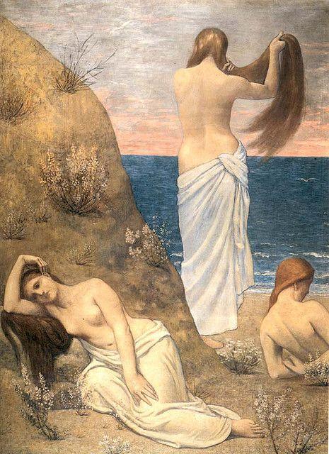 Puvis de Chavannes, Jeunes filles au bord de la mer, 1879 by Gatochy, via Flickr