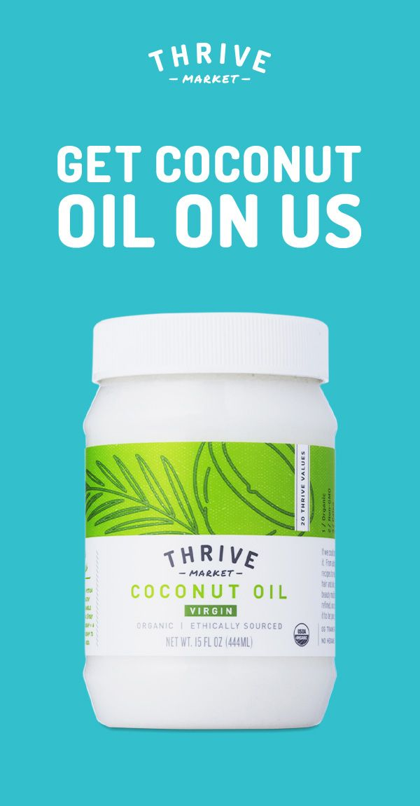 Get your free jar of organic, virgin, cold-pressed coconut oil at Thrive Market! On a mission to make