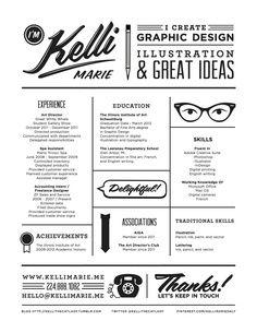 Unique resume design