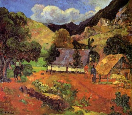 Landscape with three figures by Paul Gauguin: