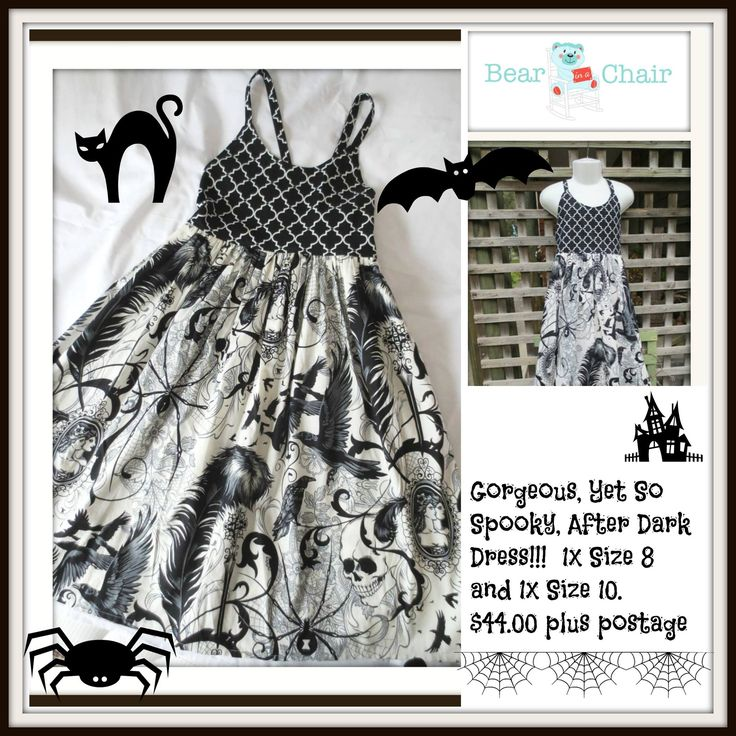 Handmade By Bear In A Chair Gorgeous, yet so SPOOKY, After Dark Dress For more information, please visit https://www.facebook.com/HandmadeMarkets