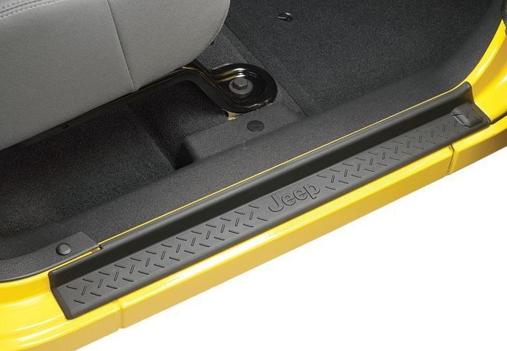 Mad Hornets - Jeep Logo Entry Sill Guards 2007-2017 Jeep Wrangler JK Unlimited 4 Door Black ABS, $34.99 (http://www.madhornets.com/jeep-logo-entry-sill-guards-2007-2017-jeep-wrangler-jk-unlimited-4-door-black-abs/)