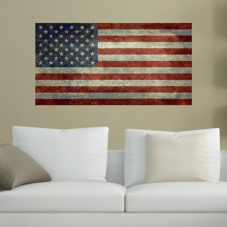 United States Flag Wall Sticker Decal by Bruce Stanfield  #USA #flag #USAflag