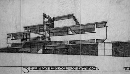 Duiker and Bijvoet, Third Technical School, Scheveningen, 1922-1931.