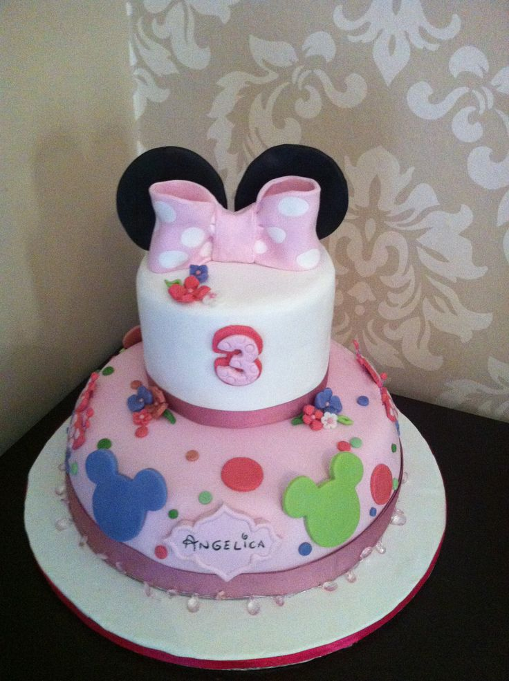 Minnie Cake! La torta di Topolina- le torte di Napù