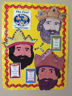 The First 3 Kings of Israel Poster for Stephen's talk about the Old Testament men