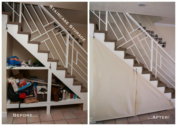 #diy #staircase #storage #beforeandafter