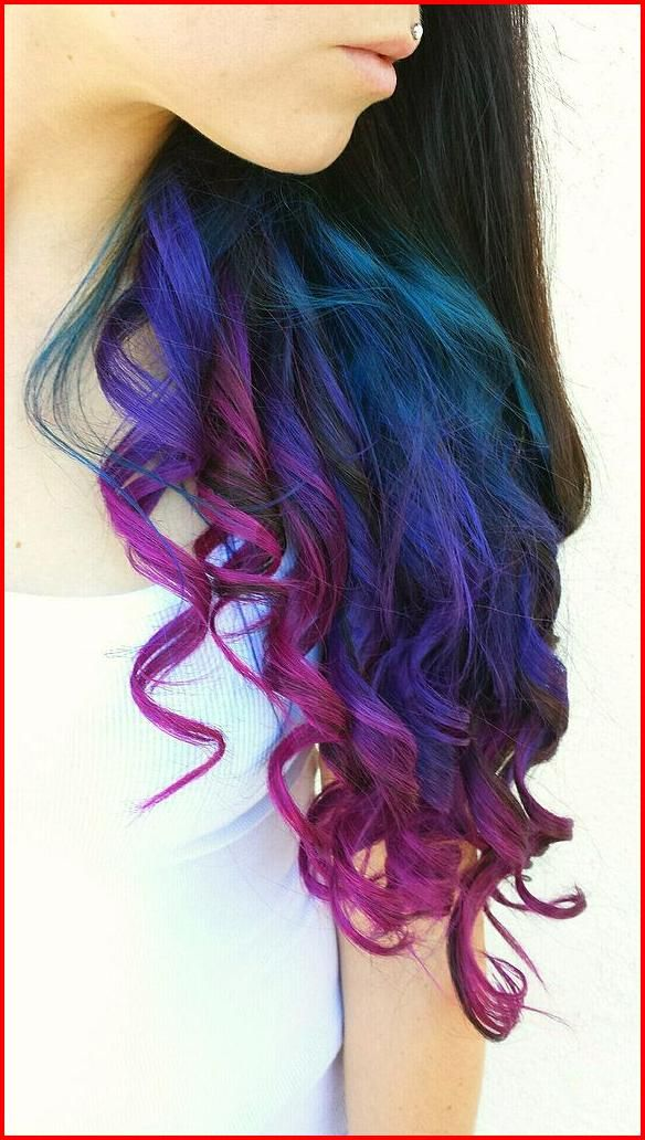 Blue Purple Hair Color Ideas Mixing Some Colors Always Work When It Comes To Make Your Appearance Both Charming An Capelli Arcobaleno Idee Per Capelli Capelli