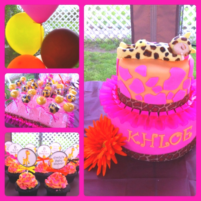 Baby Girl Jungle Theme Baby Shower Part - 23: Mostly Cupcakes By Jewels Baby Shower Creations: Giraffe Theme For A Baby  Girl. #