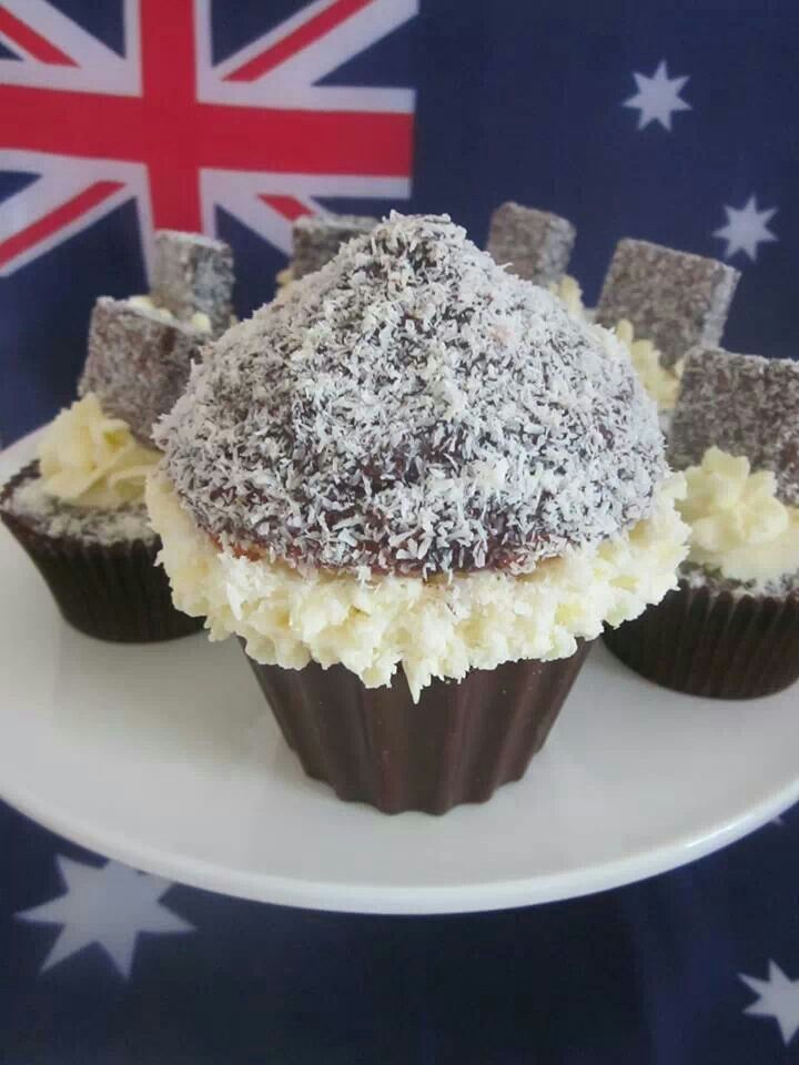 Aussie Lamington Cupcakes