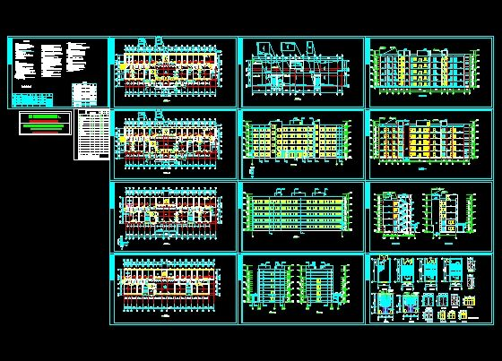 Hospital complex 2 sets of cad drawings free download for Dwg templates free download