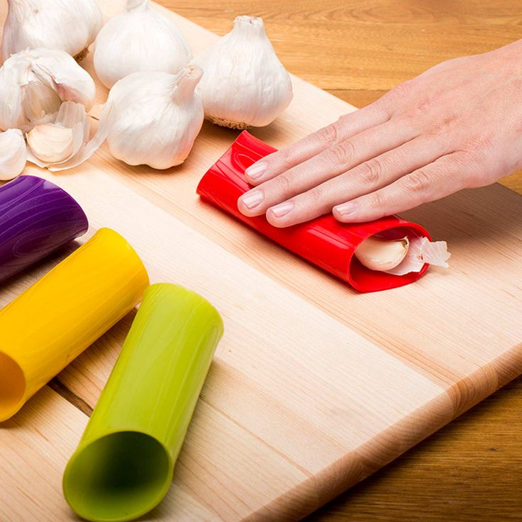 Silicone Garlic Peeler Tube is an easy peel solution for garlic. Fresh garlic peeled in seconds without transferring odor to hands. Flexible easy to roll and easy to clean.