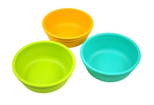 Re-Play - Set da 3 ciotole, colore: Verde/Arancione/Acqua