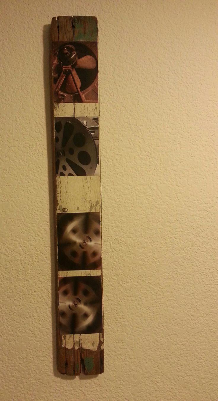 Título: VENTILADOR/ FAN Descripción: Un viejo ventilador de un cine, acompañan su giro 3 antiguas bobinas de 35 mm