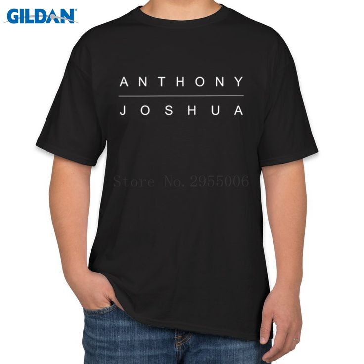 >> Click to Buy << Classic Mens T Shirts Fashion 2017 Anthony Joshua Letters Fashion T-Shirts Men Short Sleeve 100% Cotton Tshirts Tee Tops #Affiliate