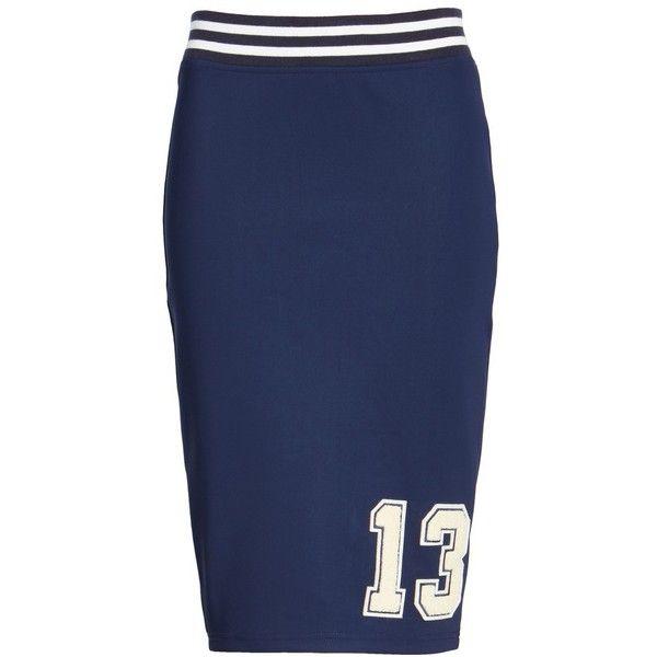 cb4f0566b Women's Fenty Puma By Rihanna Varsity Pencil Skirt ($140) ❤ liked on  Polyvore featuring