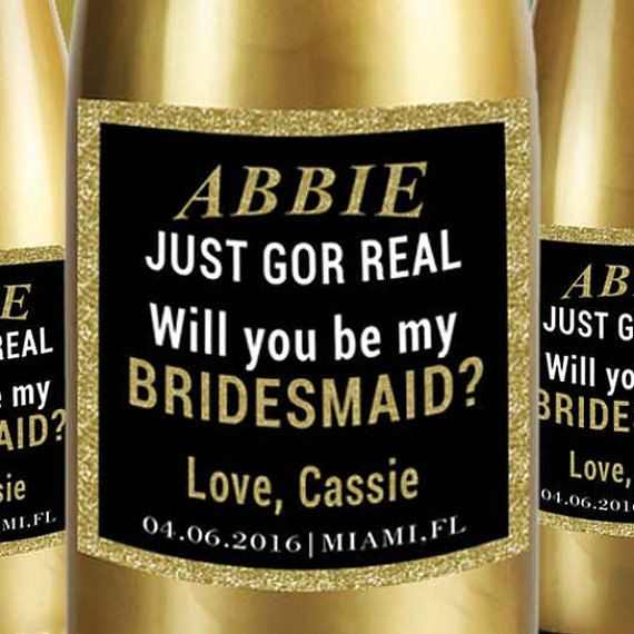 Check out this item in my Etsy shop https://www.etsy.com/listing/287968705/will-you-be-my-bridesmaid-mini-champagne