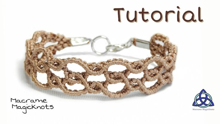 Macrame Bracelet Tutorial Super Easy Wavy by Macrame Magic Knots