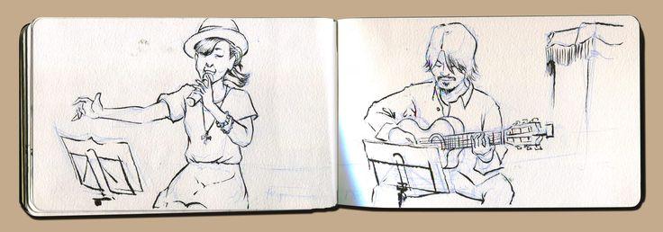 Sketch by Tetsuro Honda