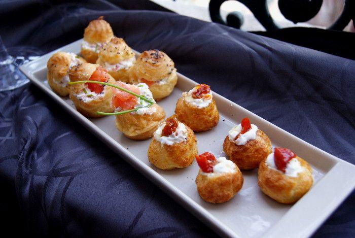 recette de mini choux apéritif aumon fumé chèvre tomate pauline cuisine blog lyon